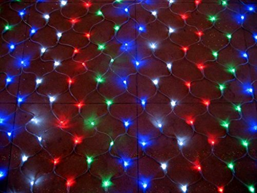 Omall 1.5M * 1.5M 96Leds Rgb Net Lights Curtain Fairy String Light For Xmas,Wedding,New Year,Birthday Party,Holiday Decoration