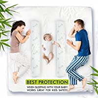 Bed Rail Bumper- Child Bed Guard Plus Hypoallergenic Bamboo Cover with Zipper Easy to Use for Toddlers to Adults, Stop Falling Off the Bed, Blue Carry Bag Included by Goods and More by china