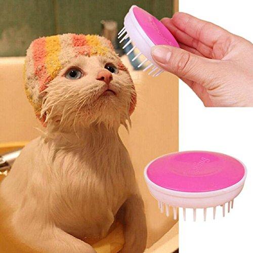Superb good New Convenient Pet Bath Brush Comfort Plastic Massage Needle Pet Products (Handheld Premium Pet Turbo Brush compare prices)