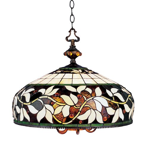 Landmark 715-TB English Ivy 6/1-Light Pendant, 18-Inch, Tiffany Bronze