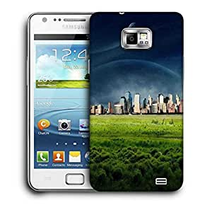 Snoogg Green City Printed Protective Phone Back Case Cover For Samsung Galaxy S2 / S II