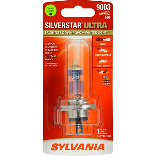 SYLVANIA 9003 SilverStar Ultra High Performance Halogen Headlight Bulb, (Contains 1 Bulb) (1988 Honda Accord Headlight Bulb compare prices)