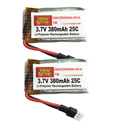 Holy Stone® 3.7V 380mAh Lipo Battery for RC Quadcopter Hubsan X4 H10