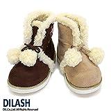 (ディラッシュ) DILASH 冬'14 ポンポン付ボアムートンブーツ 16 ベージュ