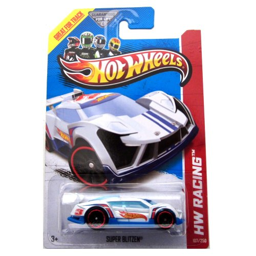2013 Hot Wheels Hw Racing - Super Blitzen - White - 1