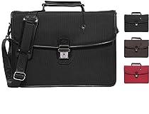 Banuce Nylon Front Lock Tote Briefcase Messenger Shoulder Bag