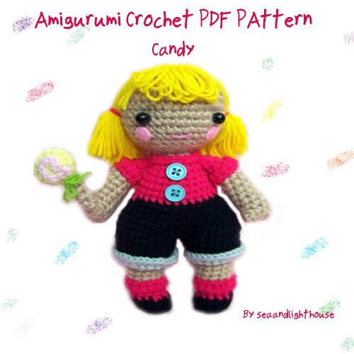 Candy Little Girl Amigurumi Crochet Pattern