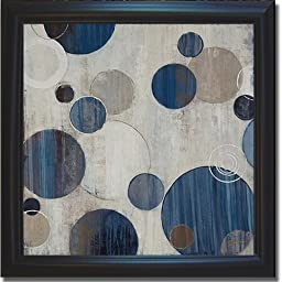 Cool Bubbles by Liz Jardine Premium Satin-Black Framed Canvas (Ready to Hang)