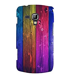 Colorful Wood Design 3D Hard Polycarbonate Designer Back Case Cover for Samsung Galaxy S Duos 2 S7582