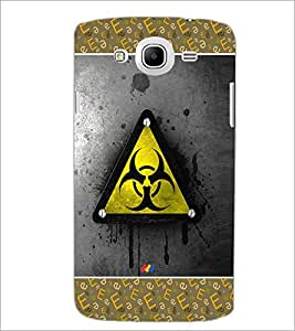PrintDhaba Logo D-4130 Back Case Cover for SAMSUNG GALAXY MEGA 5.8 (Multi-Coloured)