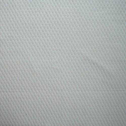 "Gathered 18"" Matelasse Diamond White King Bedskirt Cotton front-963359"