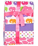 Luvable Friends 4 Count Flannel Receiving Blanket Set