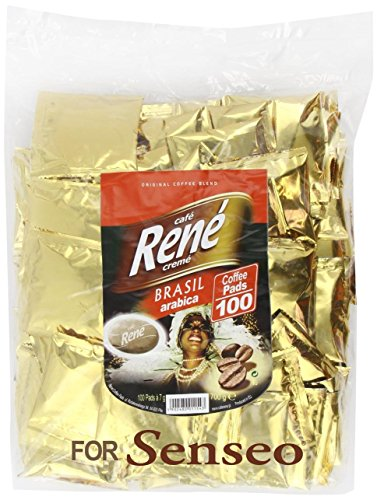 Order Philips Senseo 100 x Café Rene Crème Brasil Coffee Pads Bags Pods by Cafe-Rene