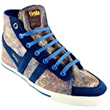 Womens Gola Quota Suede Tip High Top Boot Peacock Design Sneakers