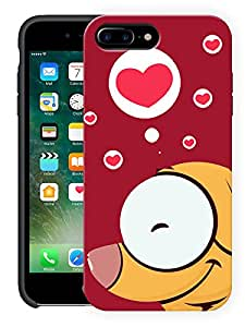 "Humor Gang Dog In Red Heart Printed Designer Mobile Back Cover For ""Apple Iphone 7 Plus"" (3D, Matte, Premium Quality Snap On Case)"