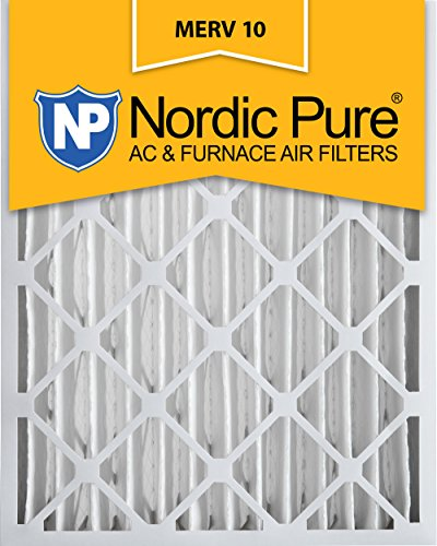 [해외]Nordic Pure 16x20x4 MERV 10 Pleated AC 퍼니스 에어 필터, 1 상자/Nordic Pure 16x20x4 MERV 10 Pleated AC Furnace Air Filter, Box of