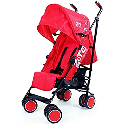 Zeta Citi Stroller Buggy Pushchair - Red by Baby Travel
