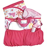 Adora Baby Dolls Diaper Bag with Accessories Changing Set (5-Piece)