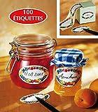 CHEVALIER DIFFUSION - Etiquettes � Confiture ( x 100) ovales d�cor�es*