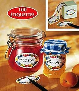 CHEVALIER DIFFUSION - Etiquettes à Confiture ( x 100) ovales décorées*
