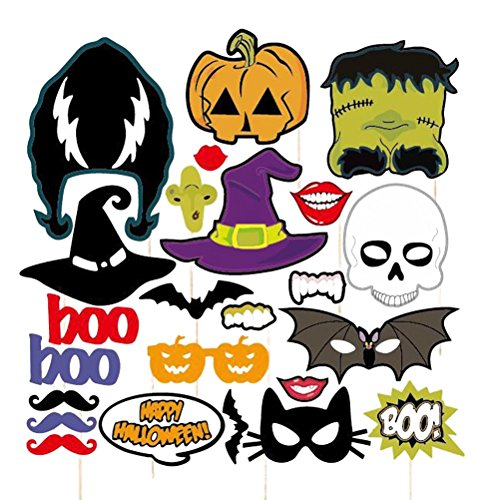 pixnor-photo-booth-props-para-halloween-fiesta-de-mascara-de-terror-en-un-palo-paquete-de-24