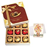 Treat Of Chocolates Gift Box With Birthday Card - Chocholik Belgium Chocolates