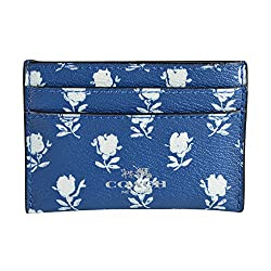 Coach Limited Edition Badlands Floral Canvas ID Card Case 63941 Blue