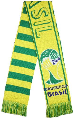 Brazil 2014 FIFA Worldcup CBF Soccer Super Fans Jacquard Scarf - Multicolour (Size: One Size) at Amazon.com