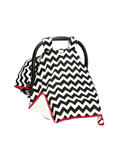 Rockingham Road Canopy Car Seat Cover, Navy Chevron