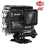 SJCAM SJ6 Legend 4K WiFi Action Camera 16MP Dual Screen Remote Sports Control WiFi Cam- Touchscreen/ 170 Degree Wide Angel/Gyro Stabilization Supported Underwater Waterproof Camera- Black (Color: Black)