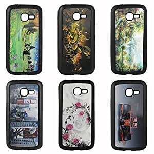 DMG 3D TPU Back Cover Case with Cool 3D Graphics for Samsung Galaxy Star Pro S7262 (Pack of 3)