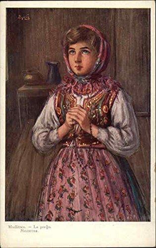 modlitwa-la-prego-art-poland-original-vintage-postcard