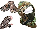 Camo Snood And Gloves Hunter Fishing Gift Idea Gloves Available in Large & X Large (X Large)