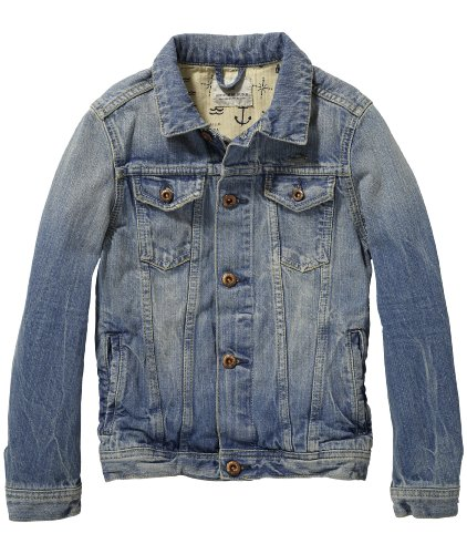 scotch shrunk jungen jacke trucker shipwrecked gr 164 herstellergr e 14 blau denim. Black Bedroom Furniture Sets. Home Design Ideas
