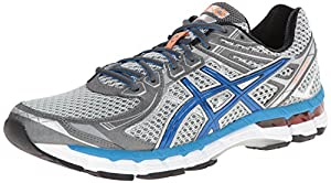 ASICS Men's GT 2000 2 Running Shoe,Titanium/French Blue/Lightning,9.5 M US