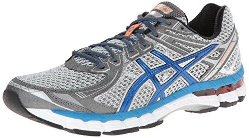 ASICS Men's GT 2000 2 Running Shoe,Titanium/French Blue/Lightning,11.5 M US