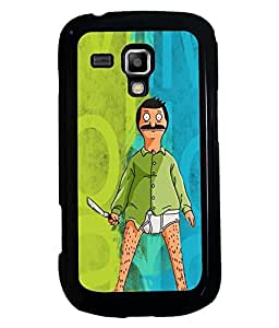 PRINTVISA Angry Man Premium Metallic Insert Back Case Cover for Samsung Galaxy S Duos S7562 - D5678