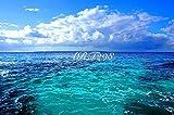 風景写真ポスター 沖縄 大東島の海 自分好みの額に入れたりボードに貼って部屋飾りを楽しめます。最高級の素材にこだわりのプリント。 (A1 84.1×59.4cm)