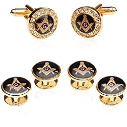 Crystal Gold Masonic Formal Set By Jewelry Mountain