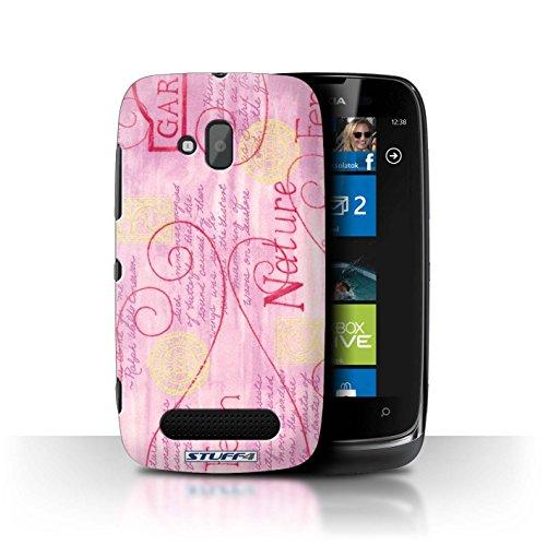 Stuff4 Hülle / Hülle für Nokia Lumia 610 / Rosa / Gelb Muster / Muster Natur Kollektion