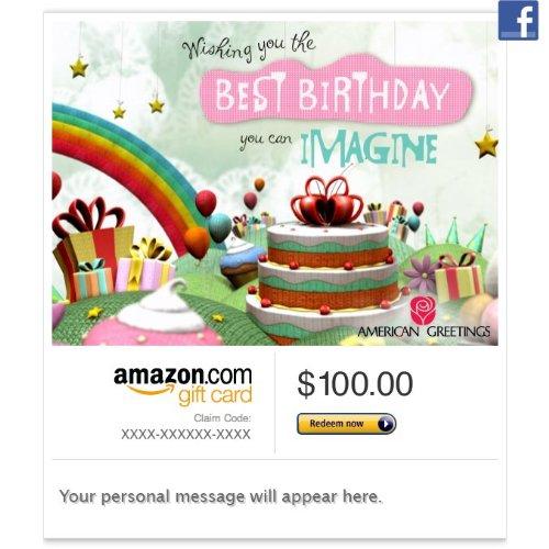 Amazon Gift Card – Facebook – Birthday Fantasy (Animated)