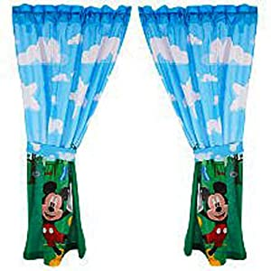 Disney mickey mouse clubhouse window drapes 42 x 63 baby - Mickey mouse clubhouse bedroom curtains ...