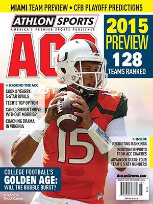 Athlon Sports 2015 College Football ACC Preview Magazine- Miami Hurricanes Cover