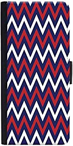 Snoogg Blue Red Pattern 2541 Designer Protective Flip Case Cover For Sony Xpe...