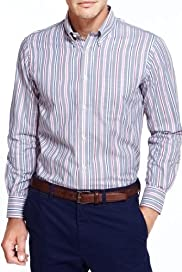 Blue Harbour Pure Cotton Triple Striped Shirt [T25-7854B-S]