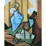 """Kunstdruck (Juan Gris - Stillleben mit Flasche und Glas) als Poster, Leinwandbild, Dibondbild oder auf Acrylglas in verschiedenen Formatenvon """"bilder-bilderrahmen.de"""""""