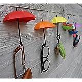 Kuber Industries™ Drop Style Clothes Key Hat Wall Hanger Hooks 3 Pcs In 1 Set - KI3342