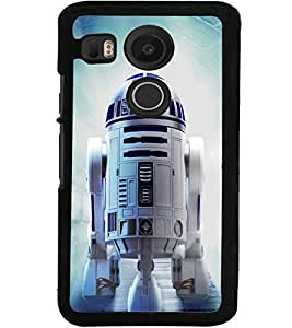 ColourCraft ROBOT Design Back Case Cover for LG GOOGLE NEXUS 5X
