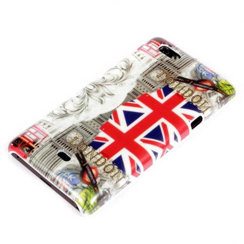 deinPhone Sony Xperia Miro ST23i HARDCASE Hülle Case London Sights GB Flag