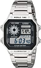 Casio Men's AE1200WHD-1A Stainless Steel Analog Digital Watch